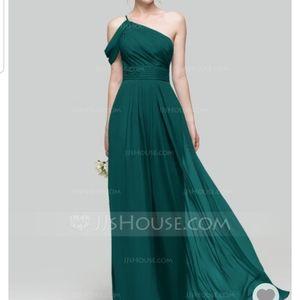 Peacock Chiffon Bridesmaid dress